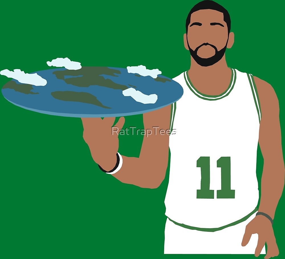 Kyrie Irving Flat Earth Celtics by RatTrapTees