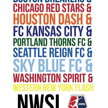 National Women's Soccer League Teams by smwgracer