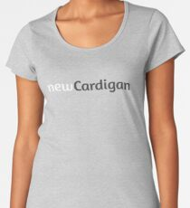 newCardigan charcoal logo Women's Premium T-Shirt