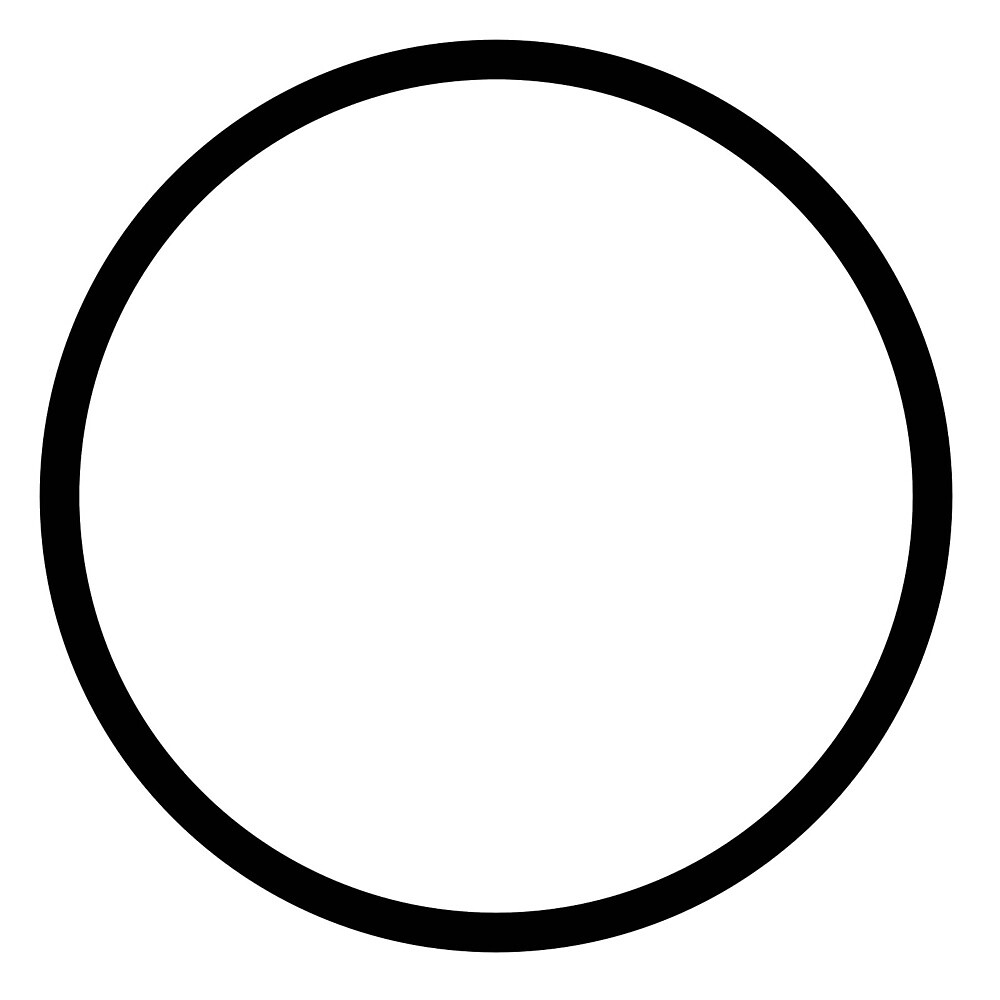 Black Outline Circle - Simplistic Design by yeiko
