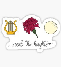 Lyre, Carnation, and Pearl - Seek The Heights Sticker