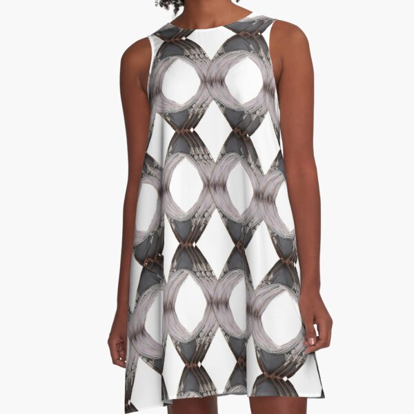 Pattern, tracery, weave, template, routine, stereotype, gauge, mold A-Line Dress