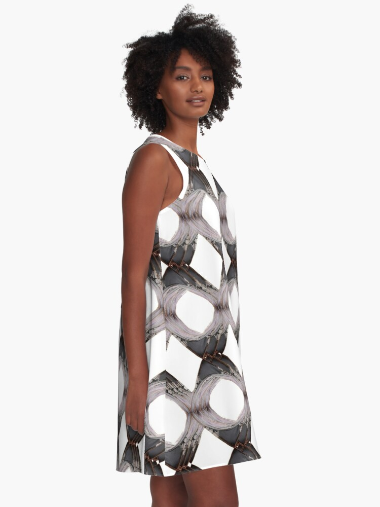 Alternate view of Pattern, tracery, weave, template, routine, stereotype, gauge, mold A-Line Dress