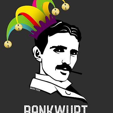 BANKWUPT →Nikola Tesla Bankrupt? Elon Musk April Fool's Day Funny Tweet T-Shirt by Custom-T-Shirts