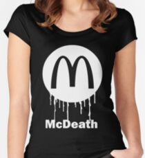 Mcdeath (white) Women's Fitted Scoop T-Shirt