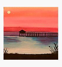 Dock At Sunset Photographic Print