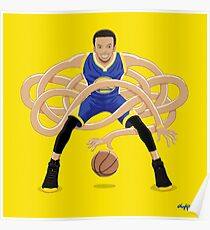 Gnarly Handles - Curry blue Poster