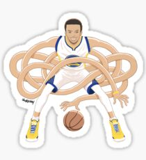 Gnarly Handles - Curry white Sticker