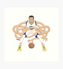 Gnarly Handles - Curry white Art Print
