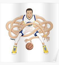 Gnarly Handles - Curry white Poster