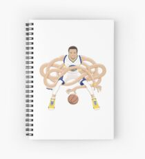 Gnarly Handles - Curry white Spiral Notebook