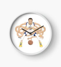 Gnarly Handles - Curry white Clock