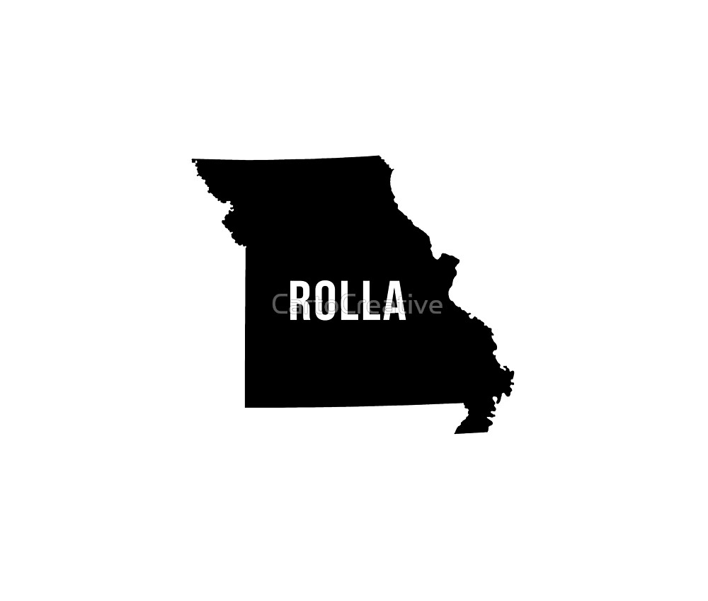 Rolla, Missouri Silhouette by CartoCreative