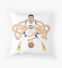 Gnarly Handles - Curry white Throw Pillow