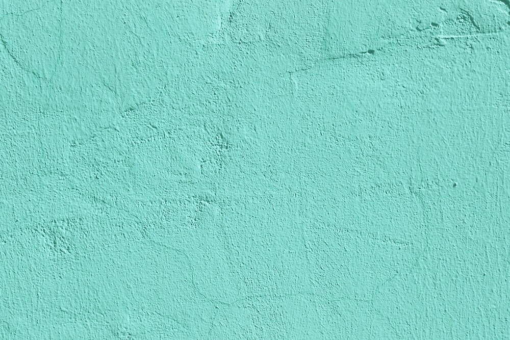 Turquoise Painted Cement Concrete Wall Texture by Alexander Nedviga