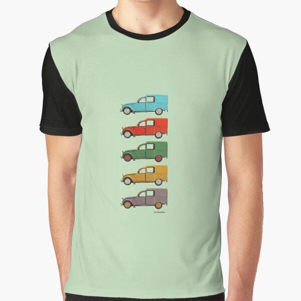 Five Cars - Citroën 2CV Fourgonnette Graphic T-Shirt