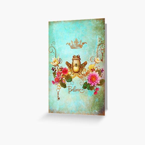 Frogger Prince Greeting Card
