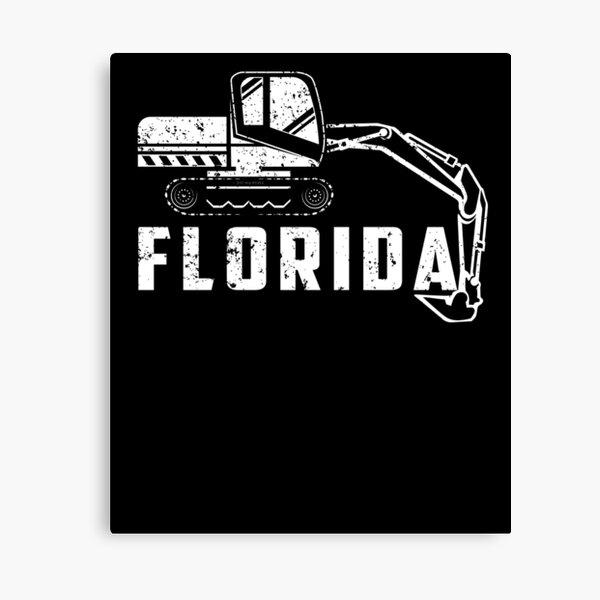 Huge Backhoe Toy Florida Backhoe Shirt Canvas Print
