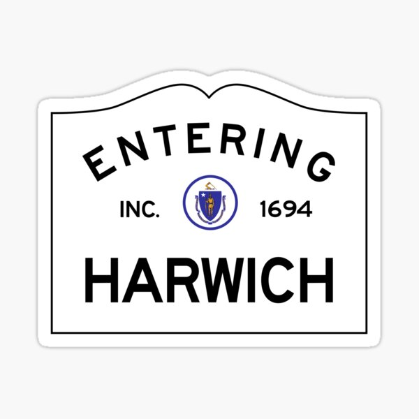 Entering Harwich Massachusetts - Commonwealth of Massachusetts Road Sign Sticker