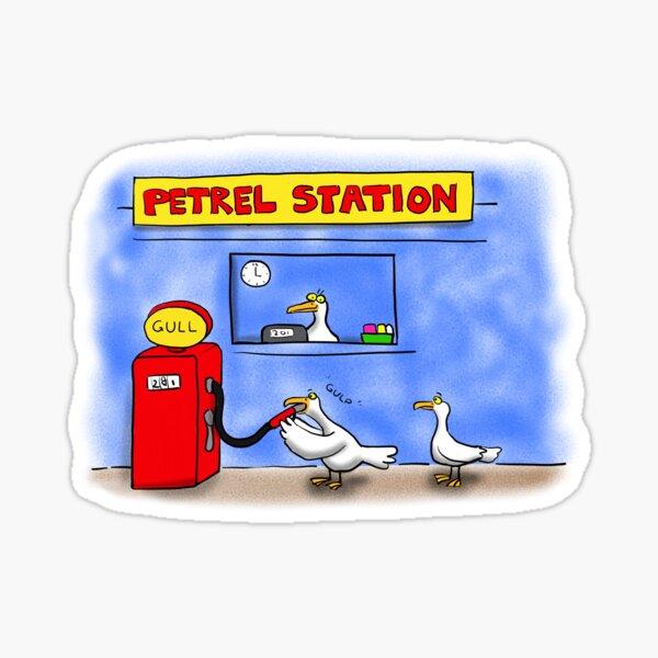 Funny sea bird cartoon Sticker