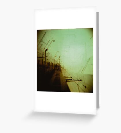 The future's a concept we use to avoid being alive today Greeting Card