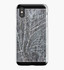 Beautiful winter landscape with snow covered trees iPhone Case