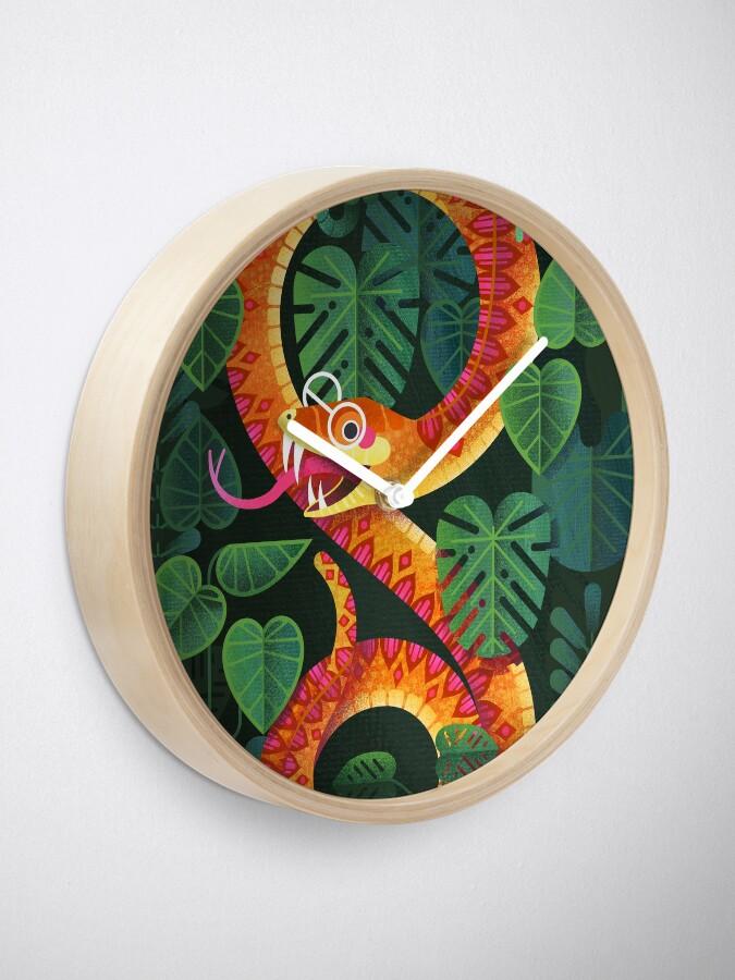 Alternate view of Mr Snake Visited the Optometrist Clock