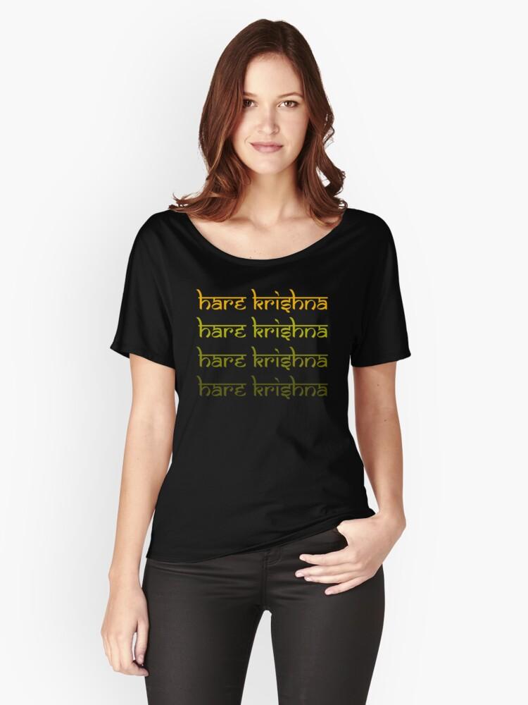 Hare Krishna Krsna Women's Relaxed Fit T-Shirt Front