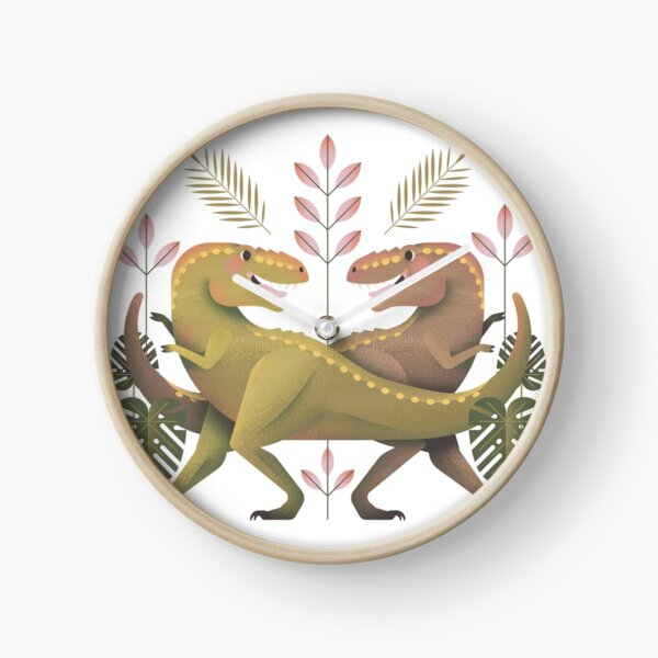 Dancing Dinosaurs Clock