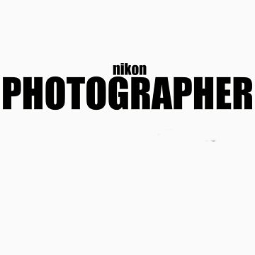 Nikon Photographer (Black) by deanonet