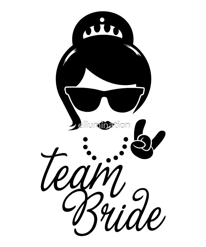 Funny Vintage Team Bride Gift for Bachelorette Wedding Bridal Shower Hen Party by ellumination