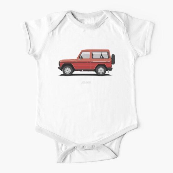 Mercedes 240 GD SWB (W460) Rojo Body de manga corta para bebé