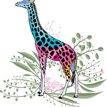 Happy Spring Giraffe by famenxt