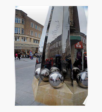 Exeter City Centre #3 The Obelisk of Riddles Poster