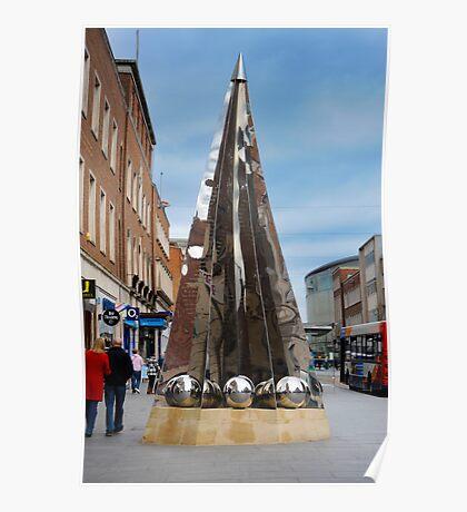 Exeter City Centre #4 Obelisk of Riddles Poster