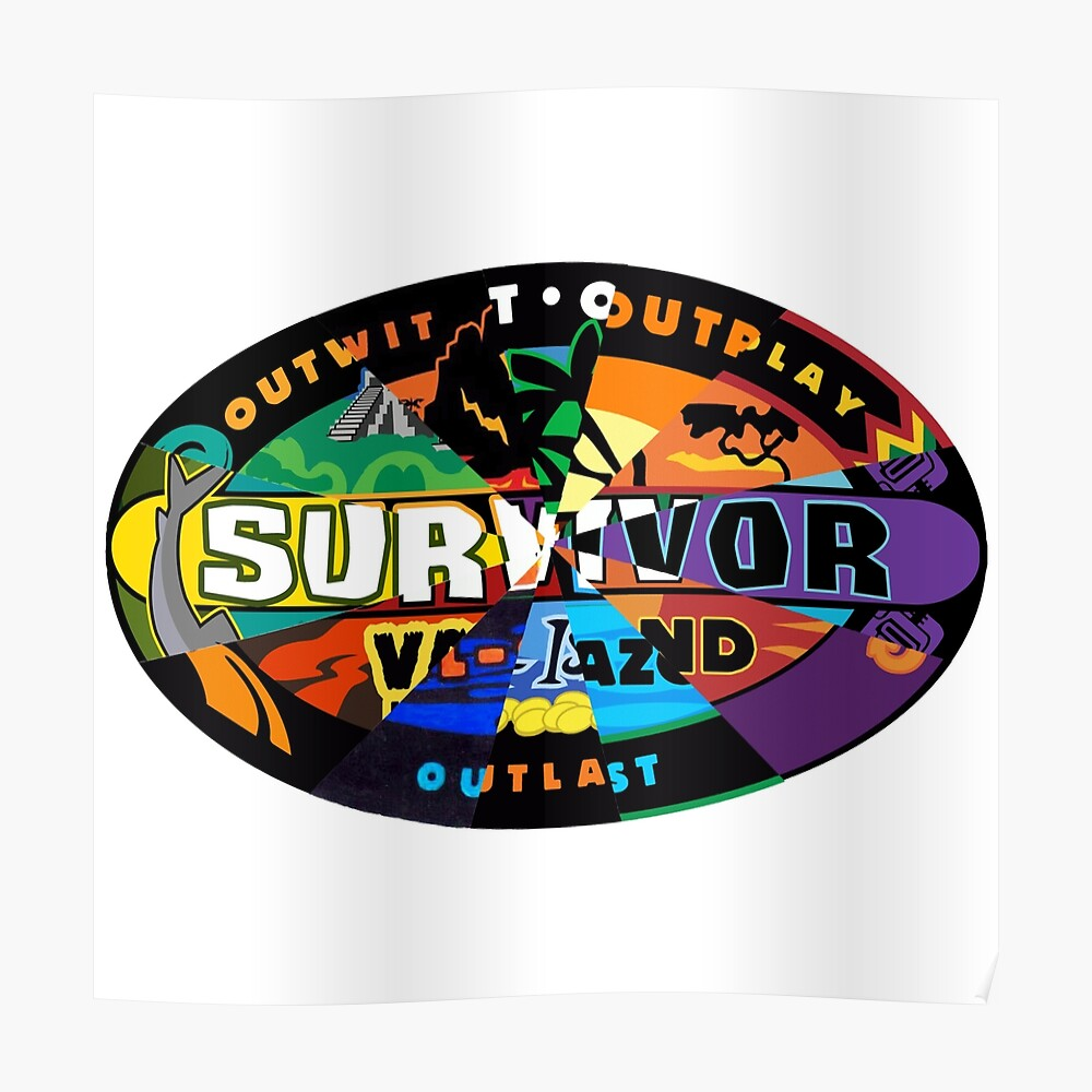 Survivor Logos Merged Sticker By Survivorcam Redbubble The font used for the television logo is very similar to survivant. redbubble