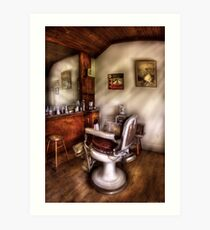 In The Barber Shop Art Print