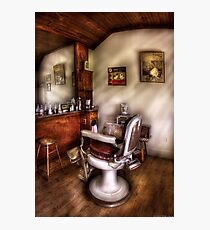 In The Barber Shop Photographic Print