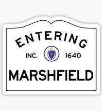 Entering Marshfield Massachusetts - Commonwealth of Massachusetts Road Sign Sticker
