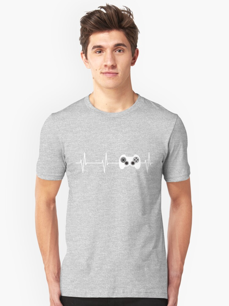 Heartbeat Gaming  Unisex T-Shirt Front