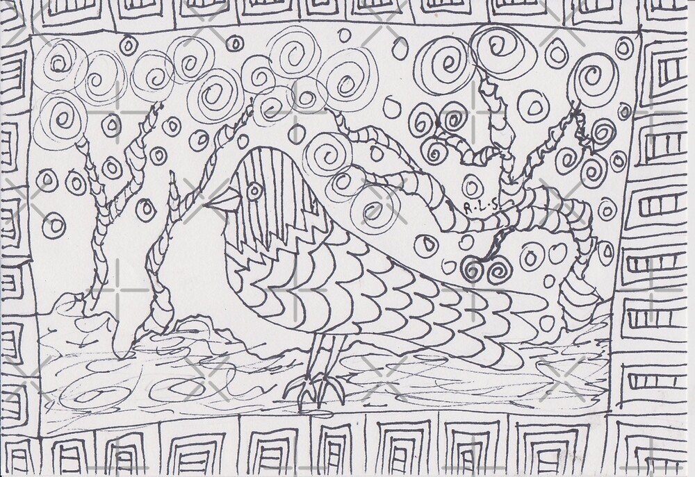 Art Thèrapie - bird by ArtistRebeccaLS
