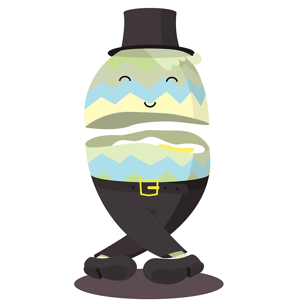 Easter egg man in tophead by nikodonets