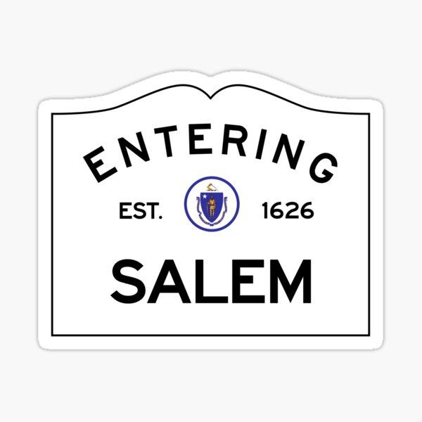 Entering Salem Massachusetts - Commonwealth of Massachusetts Road Sign Sticker