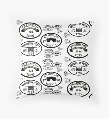 Braunston Plaque Pattern bywhacky Throw Pillow