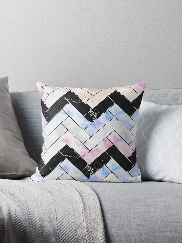 Pastel Abstract Marble Geometric Pattern | Abstract Art by CarlosV
