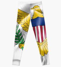 Amerikanische Jungferninseln-Flagge Leggings