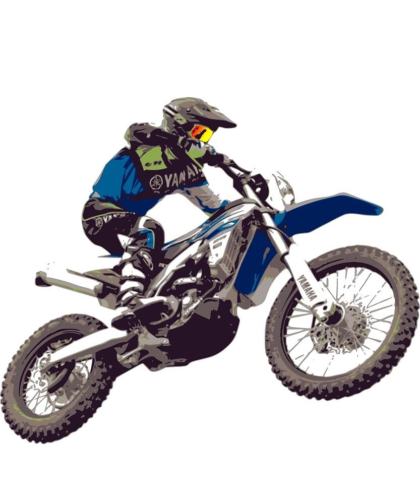 Motocross Freedom Dirt Bike Riders Freestyle by Kofein