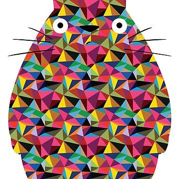 Mosaic Totoro by ChloeMorris