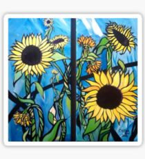 """Sunflowers"" by Chelsea Horn Sticker"