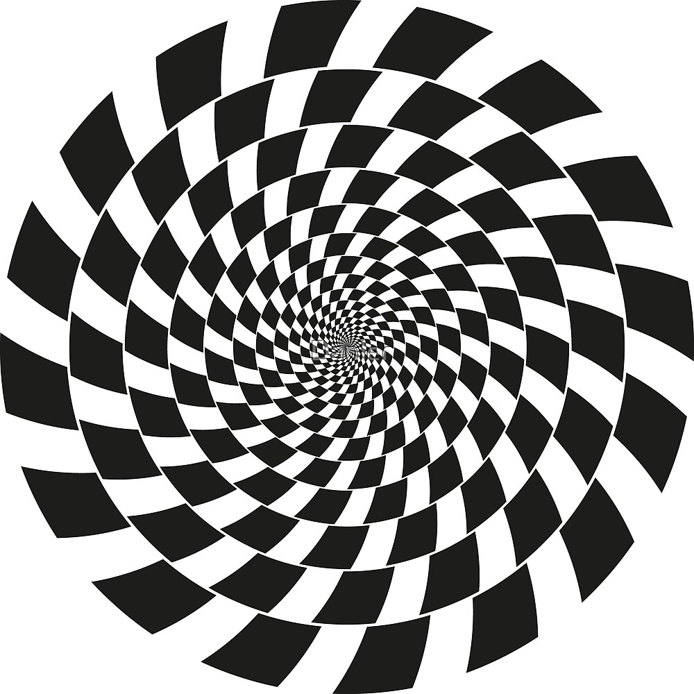 Optical illusion - chessboard swirl, by Danler